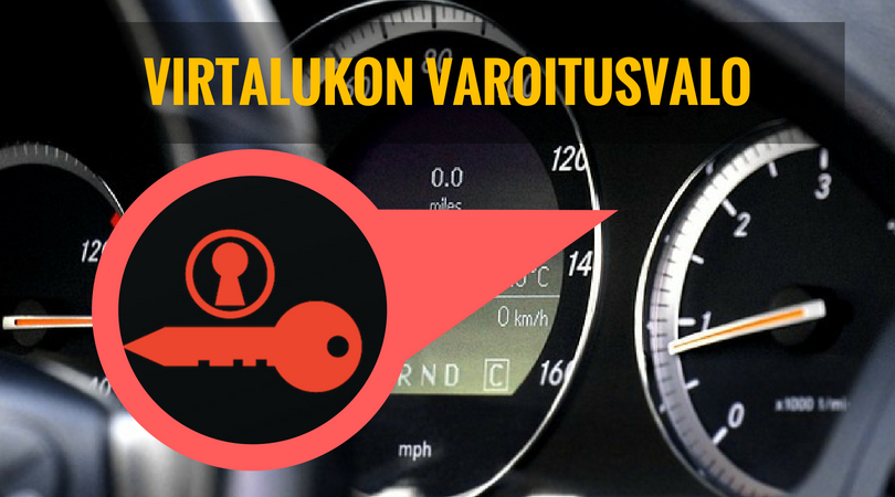 virtalukossa ongelma varoitusvalo palaa auton mittaristossa